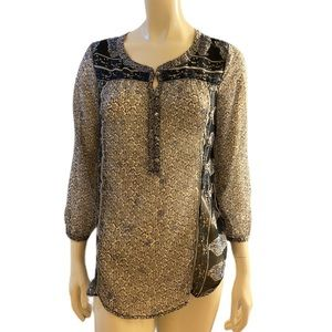 Lucky Brand Sheer Floral top size small